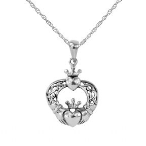 Celtic Claddagh Silver Pendant 9247